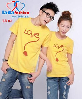 Ão Äôi tình yêu love vàng - Dodoi.net